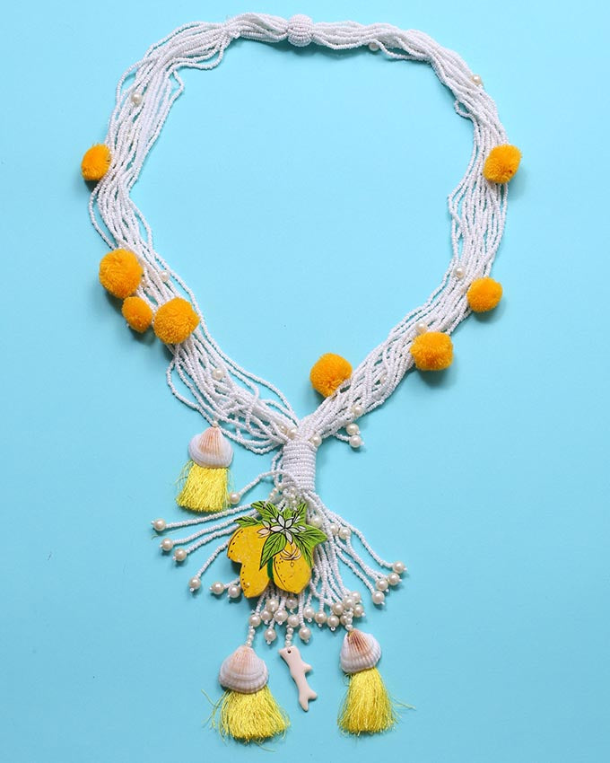 Beaded  Limoncello Layered Necklace