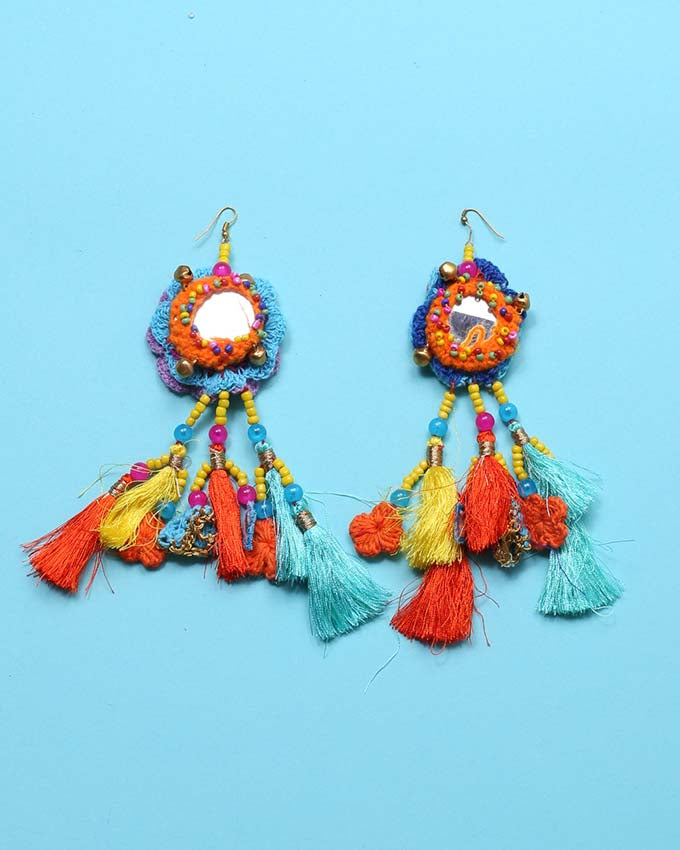 Crochet & Tassel Earrings