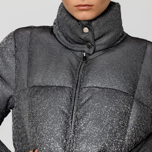 Metallic quilted jacket in Silver