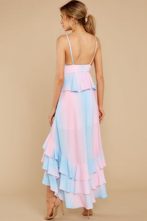 Cotton Candy Assymetric Dress