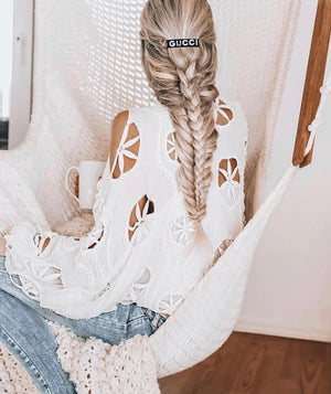 White Embroidered Top Americano