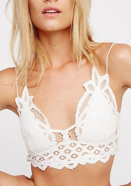Adella Bralette in White