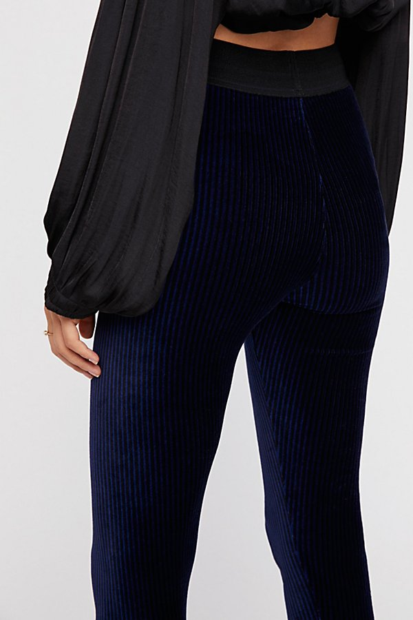 Here We Go Striped Velvet Leggings
