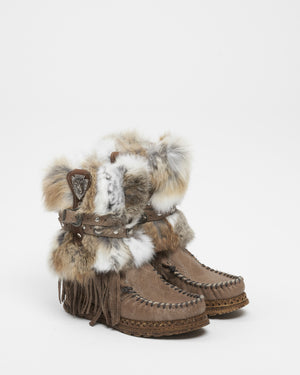 Martha Wedge Kalahari Nilo Boots with Fur