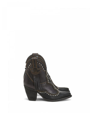 Leather Ankle Boots Daisy Rider in Coal