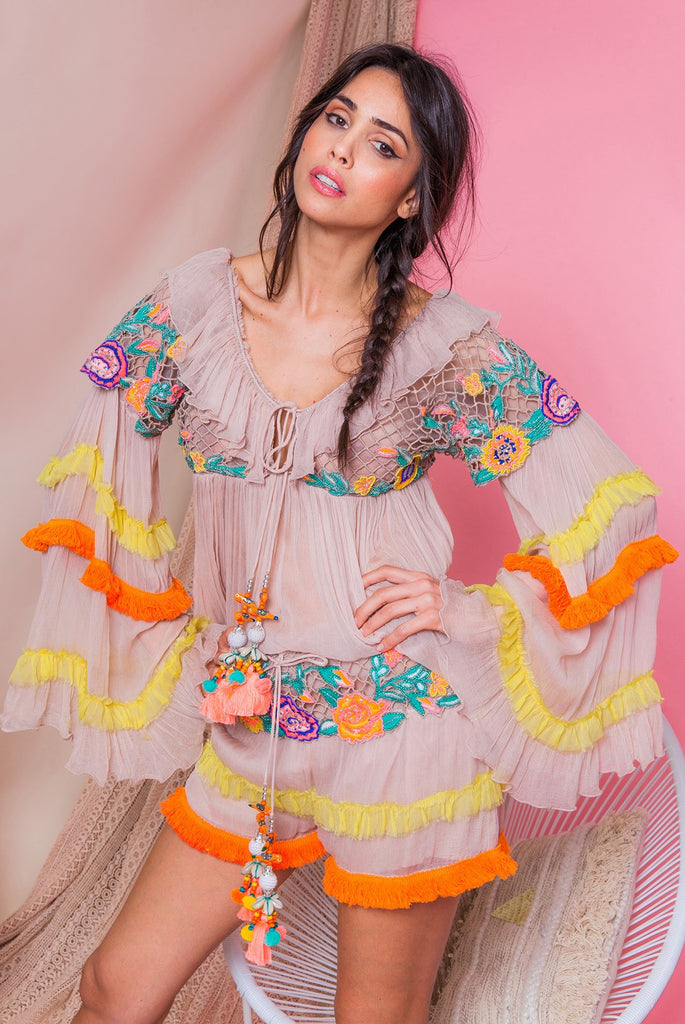 Embellished Silk Chifon top Parea