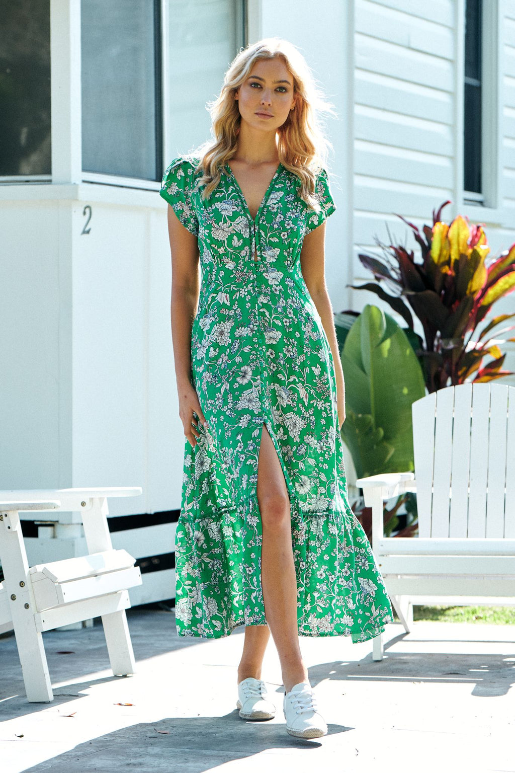 Jaase Maxi Dress Shirley in Antoinette Print