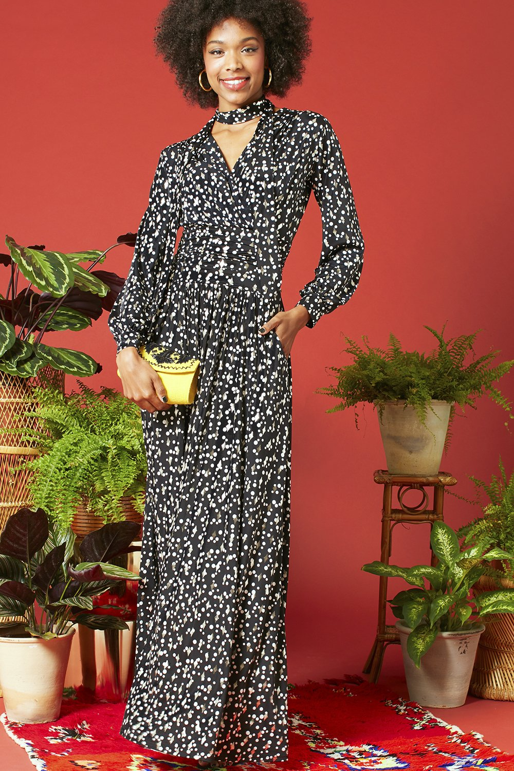 Onjenu Maxi Dress Sharon in Etoile print