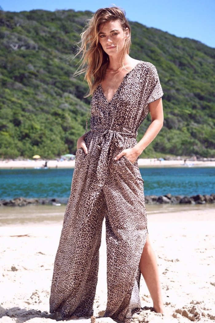 Jaase belted Jumpsuit Vienna with side slit