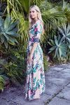 Jaase Maxi Dress Indiana in Passionfruit Print
