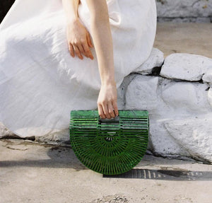 Acrylic Ark Bag in Green