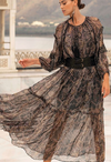 Sheer Maxi print Dress Madellin