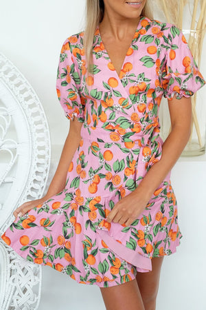 Finder Keepers Aranciata Wrap dress