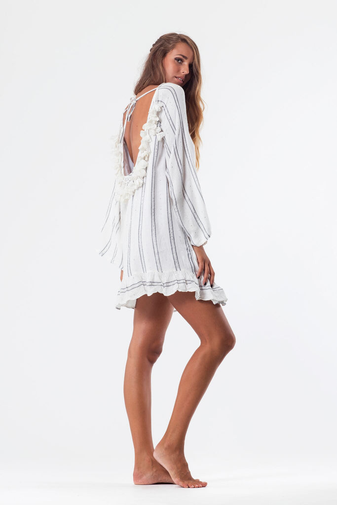 46895705b9 ... Bobby sundress in White Silver  sundress bobby silver stripe dress ...