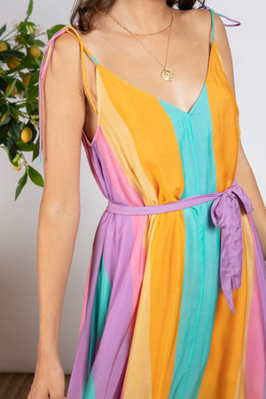 MAXI DRESS CARY IN CANCUN COLOR