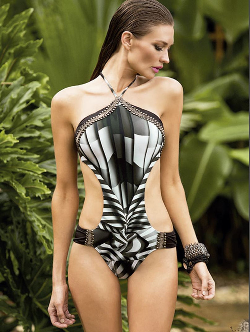 Soho Monokini Soft shirred sides
