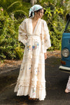 EMBROIDERED MAXI DRESS/DUSTER - Charm your way  IN ECRU