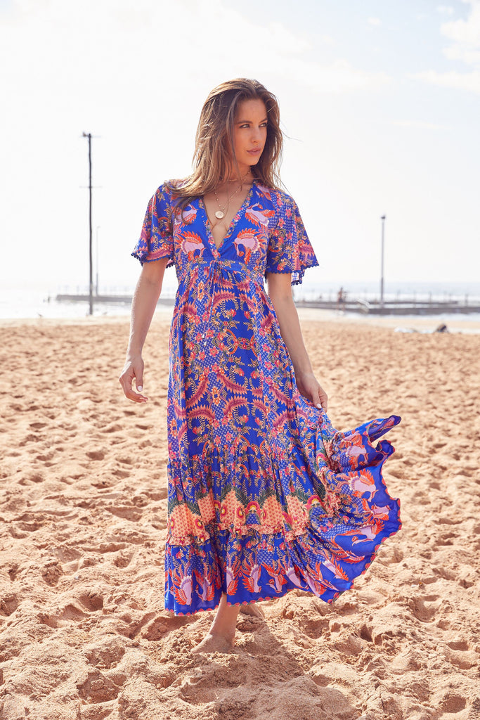 Maxi Dress Ashland in Bodhi Print
