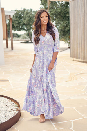 Jaase Maxi Dress Indiana in Meraki Print