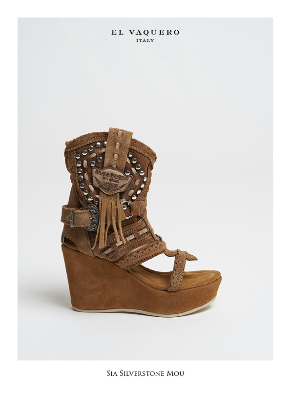 Silverstone Suede Wedge Sandals Sia