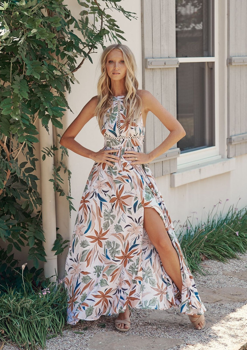 Halter Dress Endless Summer in Pascale Print