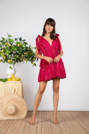 FANYA SHORT DRESS IN FUCHSIA