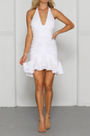 White Halter neck dress Charo