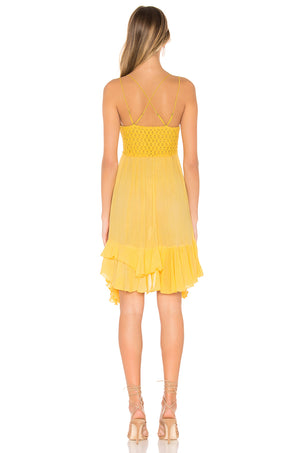Free People Adella Slip Dress in Yellow