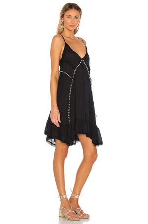 Free People Sway with me Slip Dress in Black