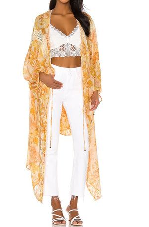 Lost in Love Kimono with lace insert