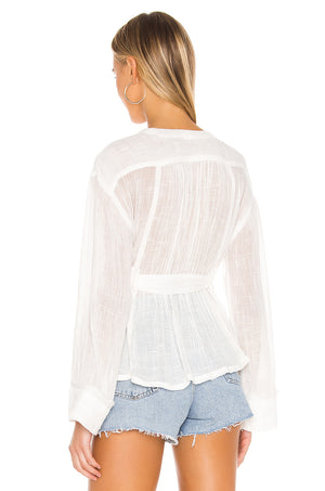Safari Sheer Wrap Top in Ivory