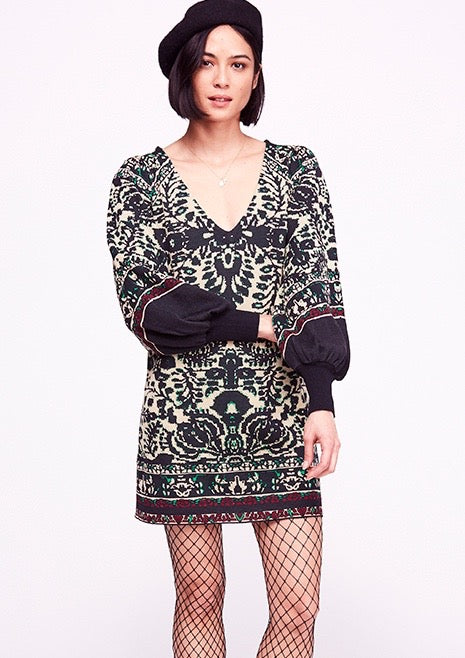 Music and Lyrics Sweater Dress