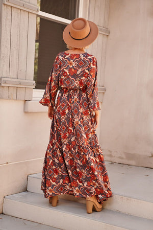 Jaase Maxi Dress Santo in Olympia print