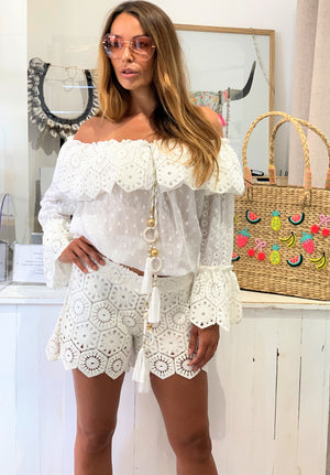 Luxury Crochet Shorts Bianca