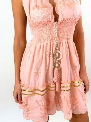 Halter Neck Mini Dress 'Noches' in Rose