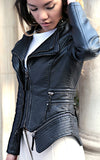 leather look biker jacket