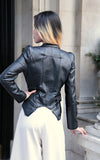 Leather look zip Biker jacket