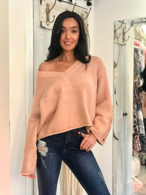 Oversized Jumper in Blush
