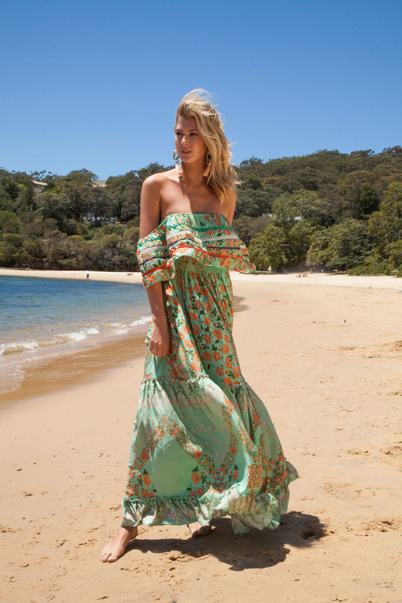 Karlie off Shoulder Maxi Dress