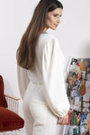 Cashmere blend Off White knit Jumpsuit June