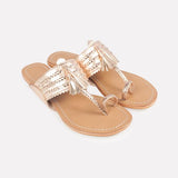 Star Mela Gold Leather sandals Nadia