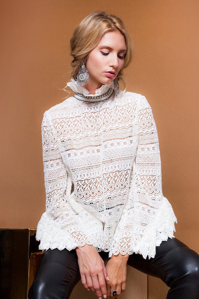 Diamond For Eden Lace Blouse