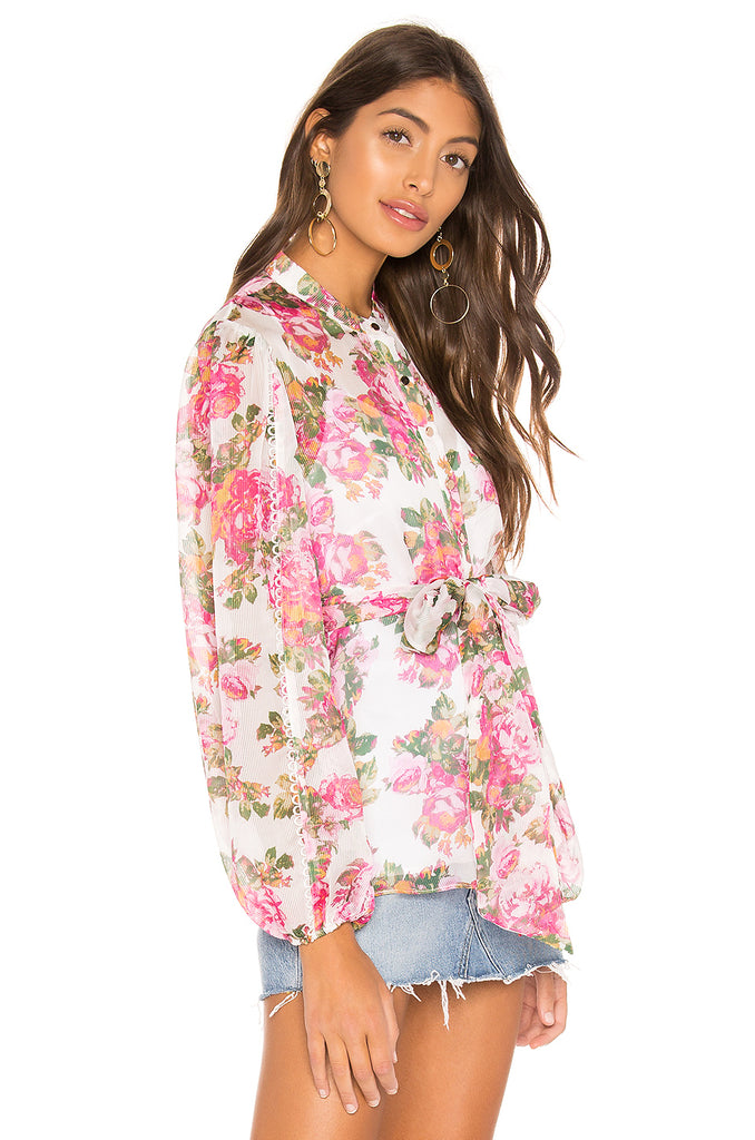Oblivion Top Ivy Rose Floral