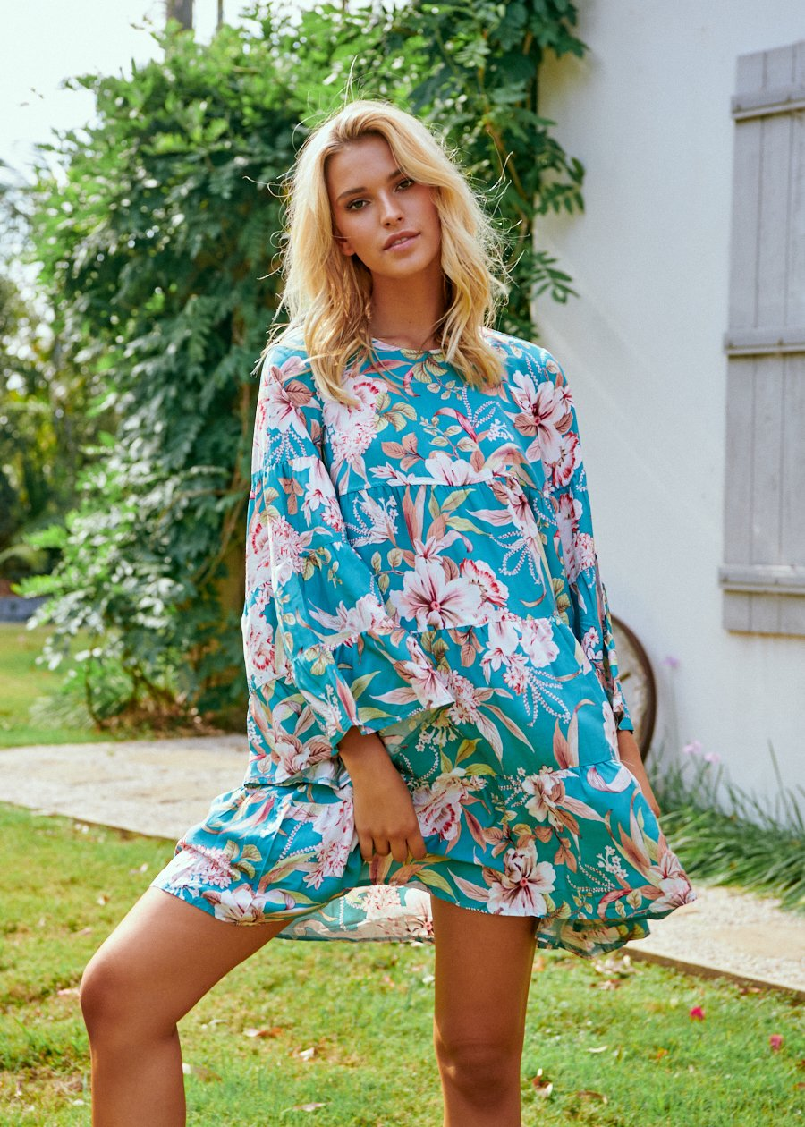 Sander Mini Dress in Malini Print