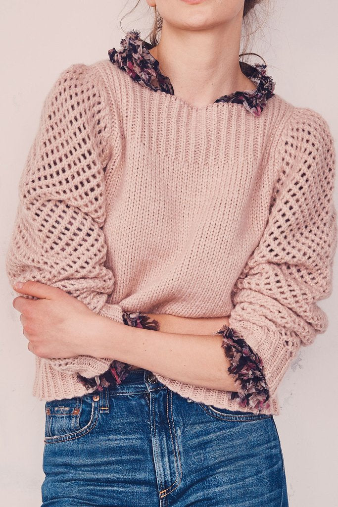 LoveShackFancy Rosie Jumper in Dusty Rose
