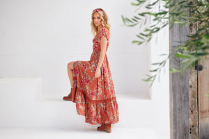 Jaase Maxi Dress Carmen in Dulcie Print
