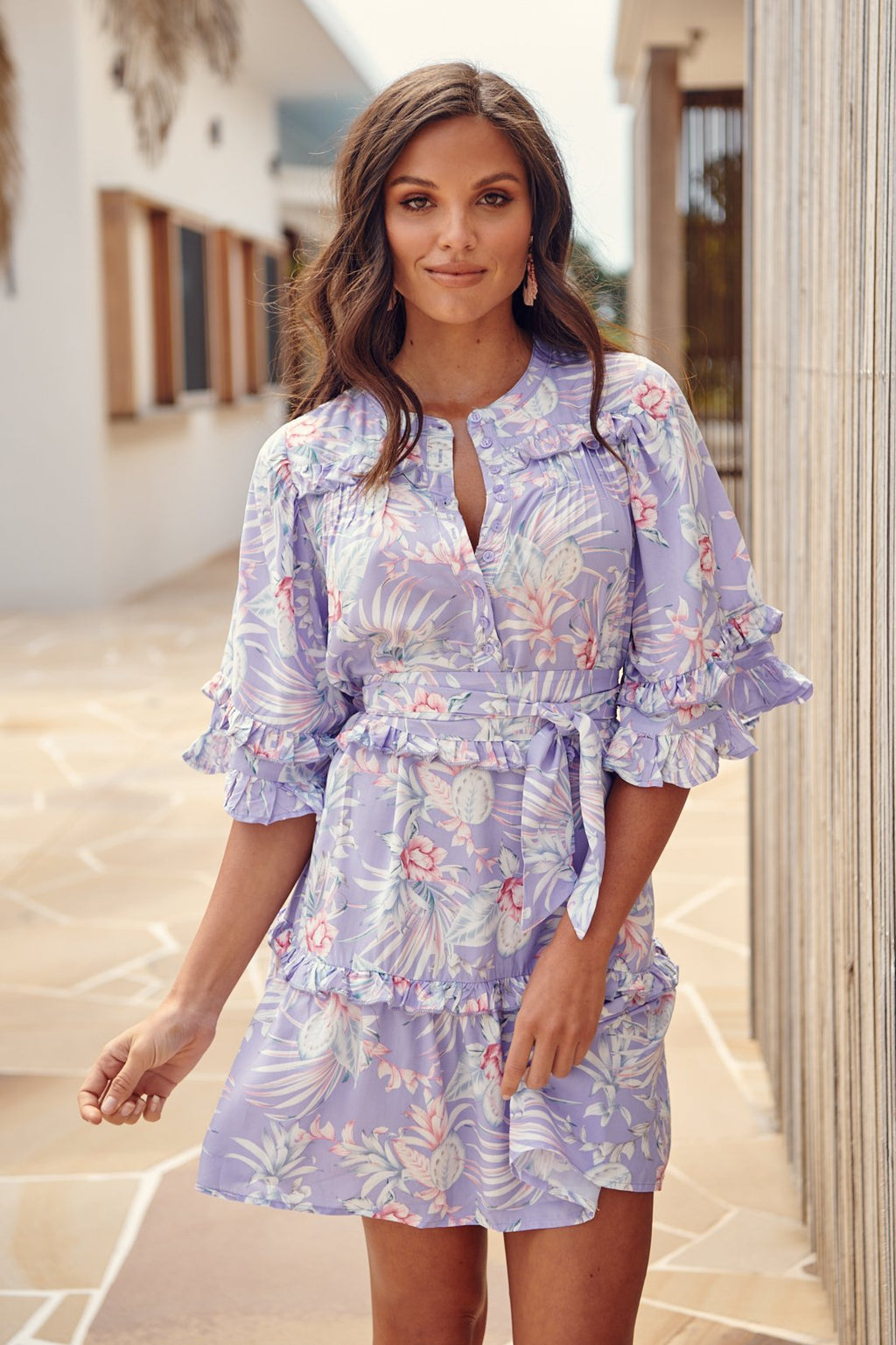 Meraki Print Eloine Mini Dress