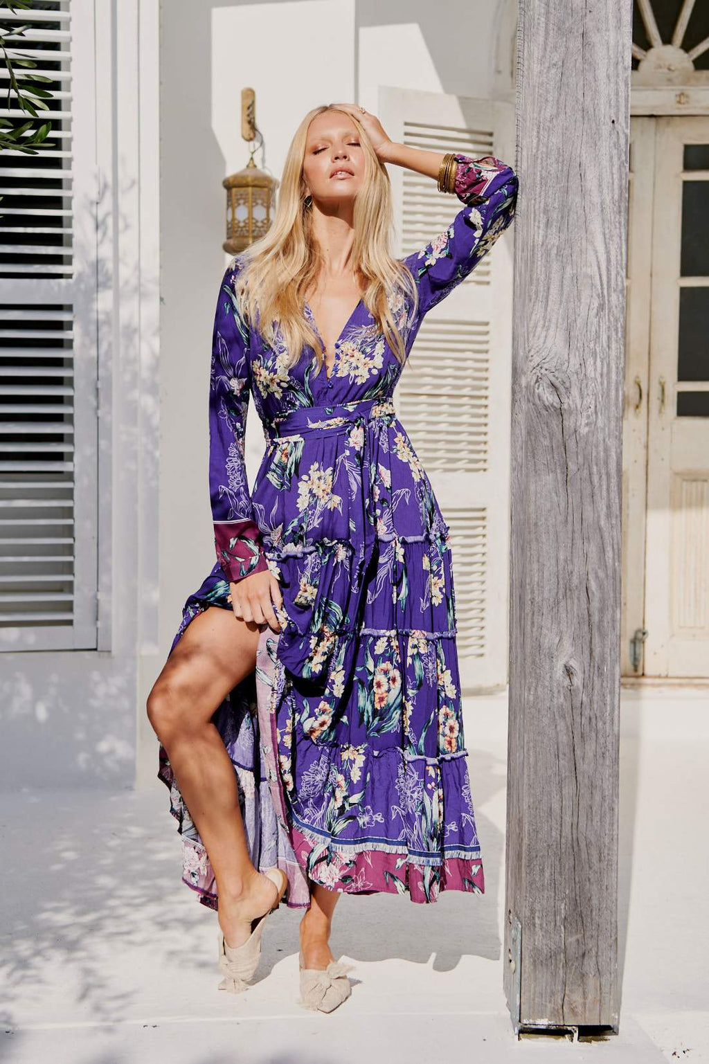 Jaase Keshia Maxi Dress in Marysia Print
