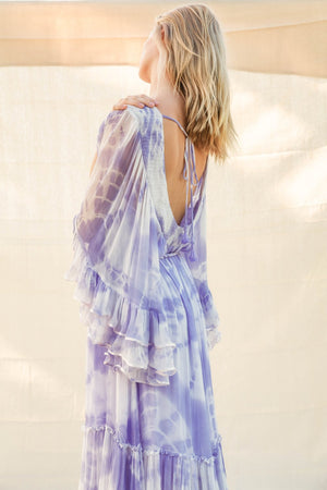 LOVE STREET KIMONO Dress IN LILAC
