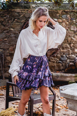 Jaase mini skirt Miri in Luna Print